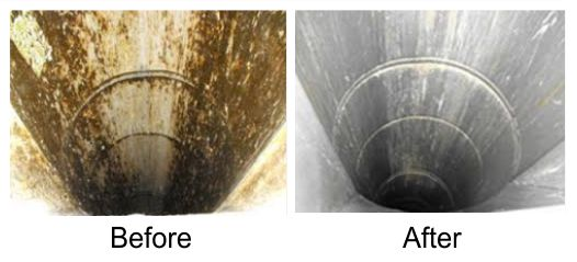 Trash Chute Cleaning Before And After Sound Cleaning